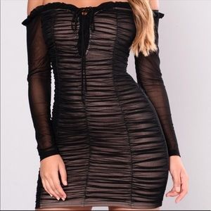 Brand new with tag mesh black dress